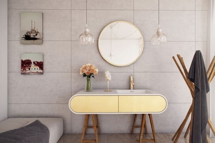 Nowoczesna umywaka połączona z szafką: styl , w kategorii Łazienka zaprojektowany przez Luxum,Nowoczesny
