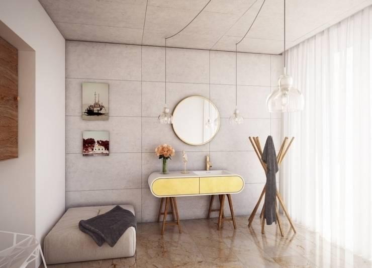 Nowoczesna umywalka połączona z szafką: styl , w kategorii Łazienka zaprojektowany przez Luxum,Nowoczesny