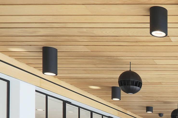 Houten plafond Intermontage:  Kantoorgebouwen door Intermontage Leurink B.V., Modern