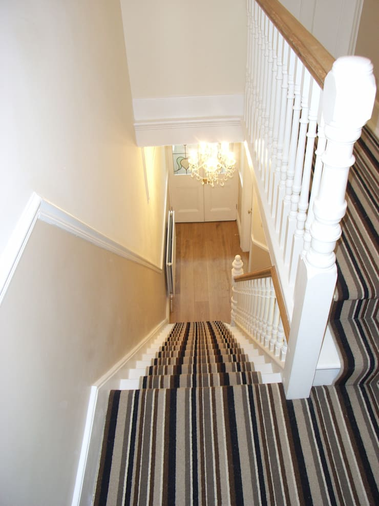 Striped Stair Carpet Runner