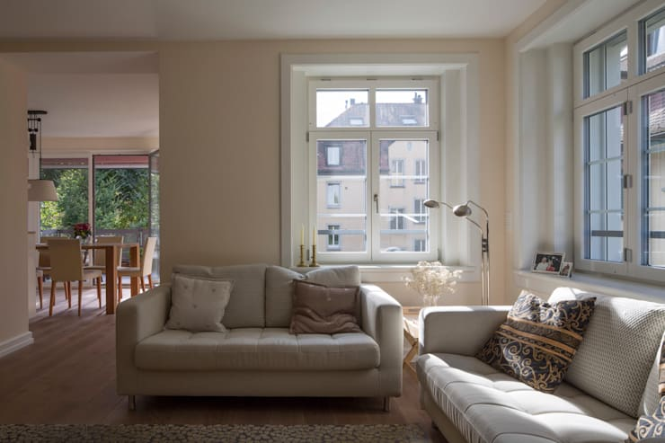 Salones de estilo  de Tschander.Keller architekten