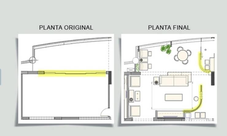 Antes e depois:   por Ana Menoita Arquitetura e Interiores