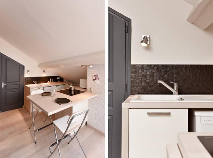 Cucina in stile in stile Moderno di Marion Lanoë Architecte d'Intérieur
