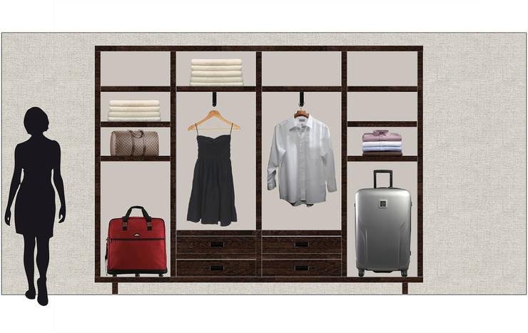 Kleiderschrank: klassische Schlafzimmer von Adeline Labord Interiors