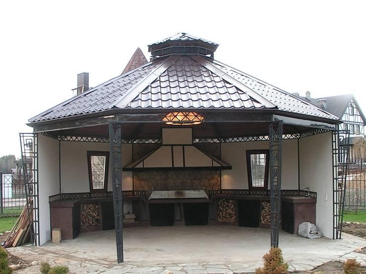 Коттедж в Новой Европе: Tерраса в . Автор – Архитектор Константин Тишин, Классический