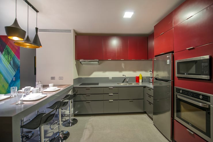 Cocina: Cocina de estilo  por ESTUDIO TANGUMA