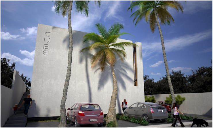 CUBE: Casas de estilo  por Desarrollos Proyecta