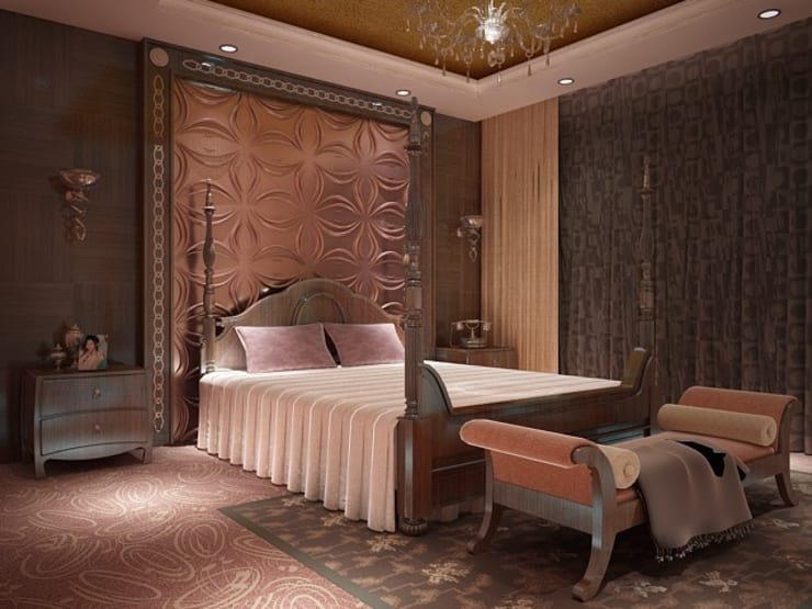 Diva Yapı – 3D GOLD PANEL: klasik tarz tarz Yatak Odası