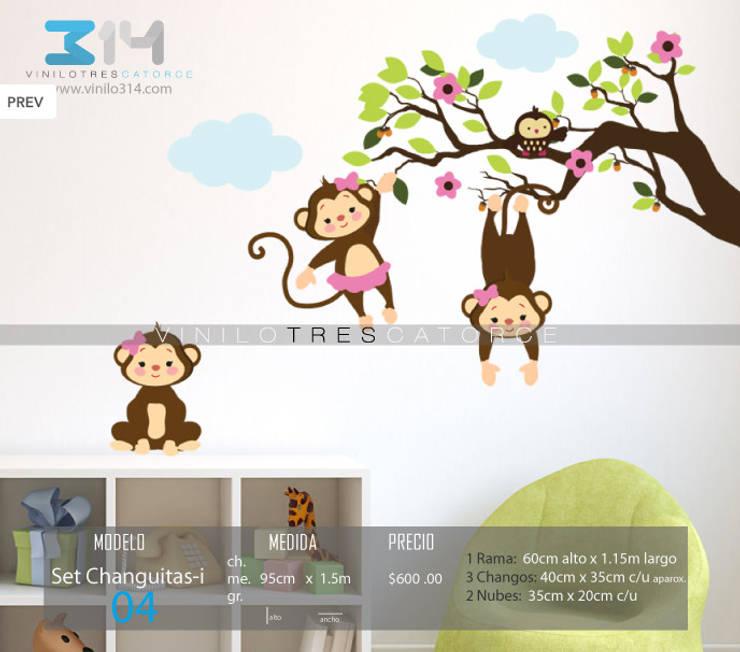 Vinilos Decorativos Arboles Infantiles y Sets Decorativos: Recámaras infantiles de estilo  por Vinilo314