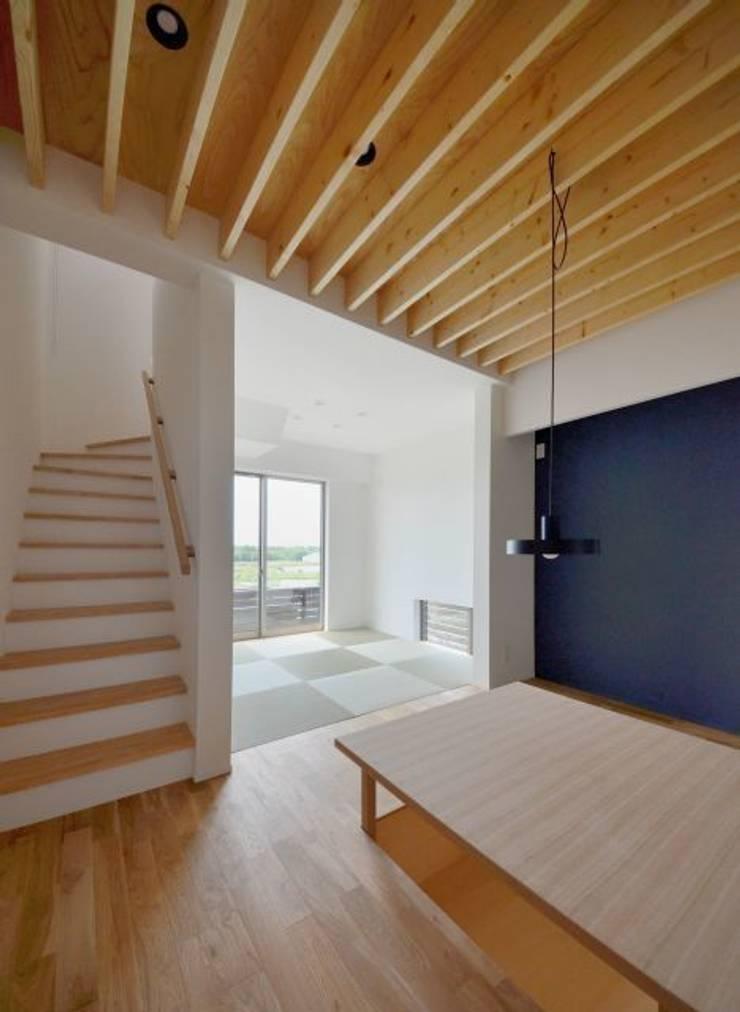 湖西の家: 岩田建築アトリエが手掛けたリビングです。