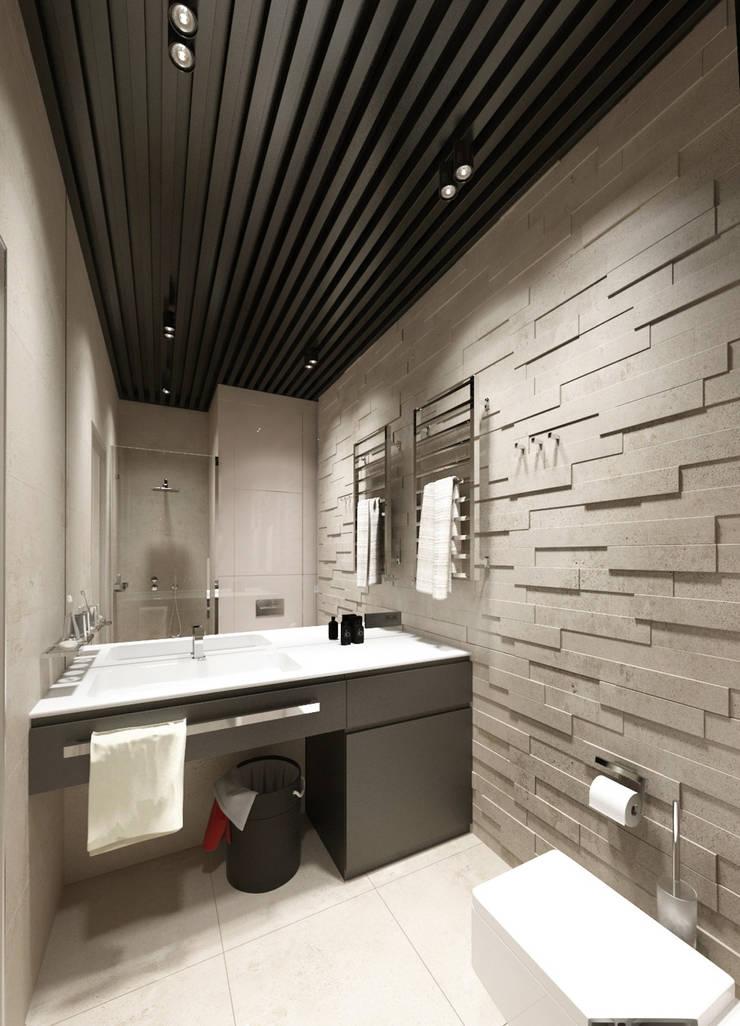 Студия для холостяка: Ванные комнаты в . Автор – Y.F.architects,