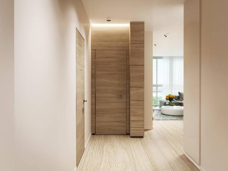 Квартира в ЖК <q>Чемпион парк</q>: Коридор и прихожая в . Автор – Y.F.architects