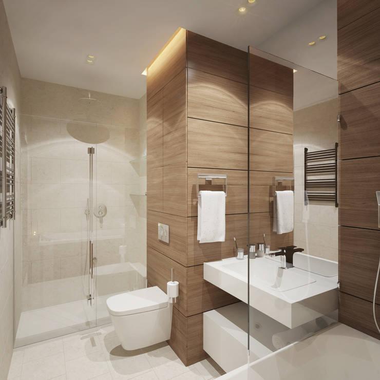 Квартира в ЖК <q>Чемпион парк</q>: Ванные комнаты в . Автор – Y.F.architects