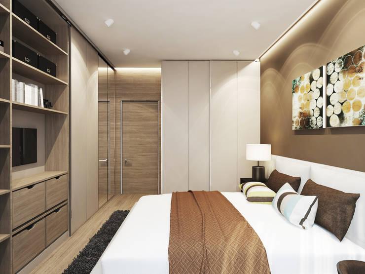 Квартира в ЖК <q>Чемпион парк</q>: Спальни в . Автор – Y.F.architects