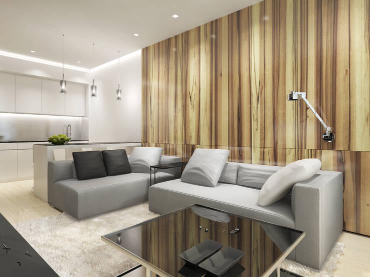 Salas de estilo minimalista de Y.F.architects Minimalista