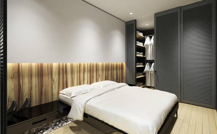 Cuartos de estilo minimalista de Y.F.architects Minimalista