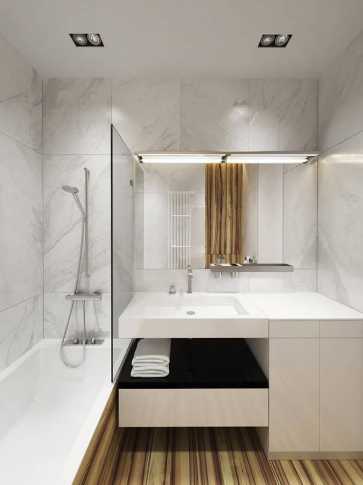 Baños de estilo minimalista de Y.F.architects Minimalista