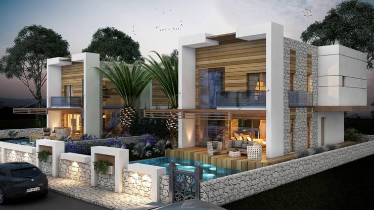 MİNERVA MİMARLIK – ÇEŞME VİLLA: modern tarz Evler