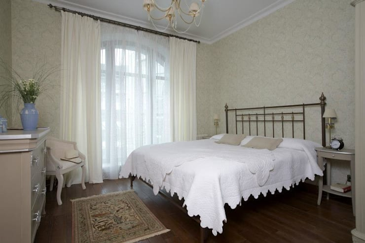 Квартира 135 м2: Спальни в . Автор – Tatiana Ivanova Design