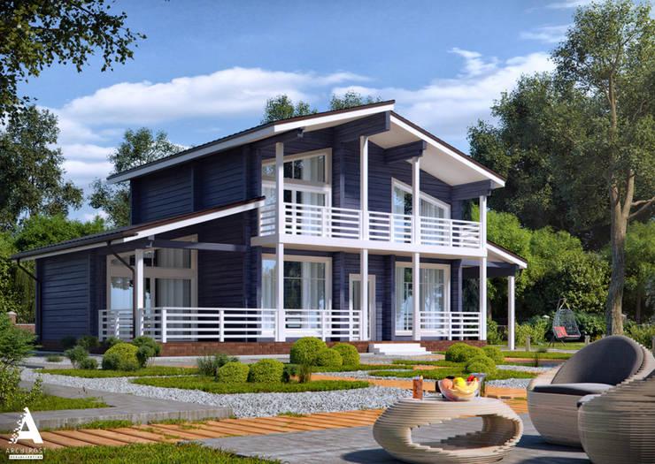 Jardines de estilo moderno por Аrchirost