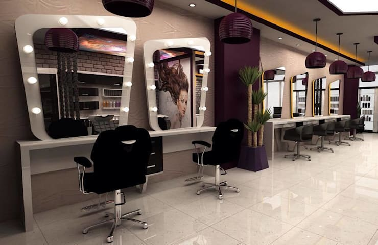 DETAY MİMARLIK MÜHENDİSLİK İÇ MİMARLIK İNŞAAT TAAH. SAN. ve TİC. LTD. ŞTİ. – Hair Design Center:  tarz Dükkânlar