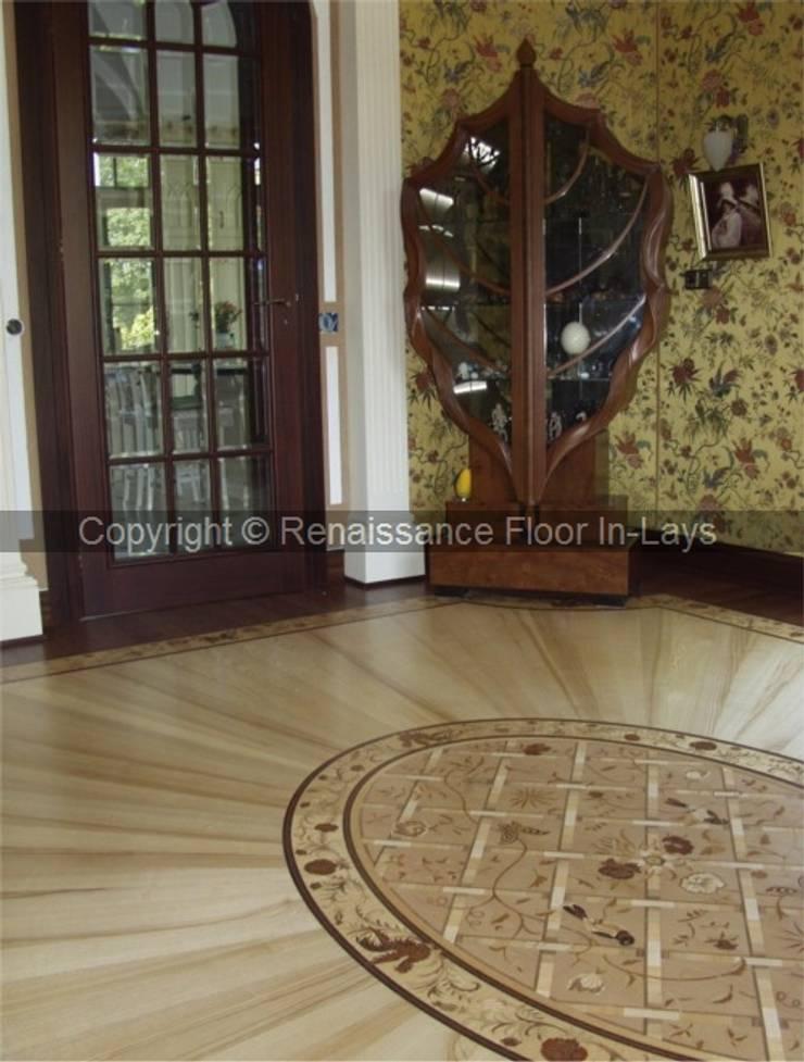 intarsie podłogowe : styl , w kategorii Domowe biuro i gabinet zaprojektowany przez Renesans Floor In-lays ,Klasyczny Lite drewno Wielokolorowy