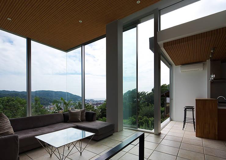 段床の家/葉山K邸 (Dansho -no IE ): Archiplus Architectural Design Office / ㈱アーキプラス一級建築士事務所が手掛けたリビングです。