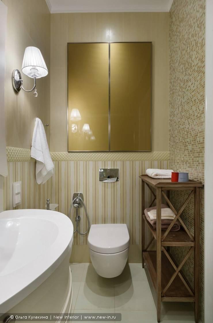 «Белоснежная Москва» – квартира на Красной Пресне – 131,3 м²: Ванные комнаты в . Автор – Ольга Кулекина - New Interior