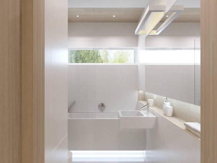Projekt wnętrz mieszkania II: styl , w kategorii Łazienka zaprojektowany przez Projektowanie Wnętrz Krzysztof Ziółkowski,