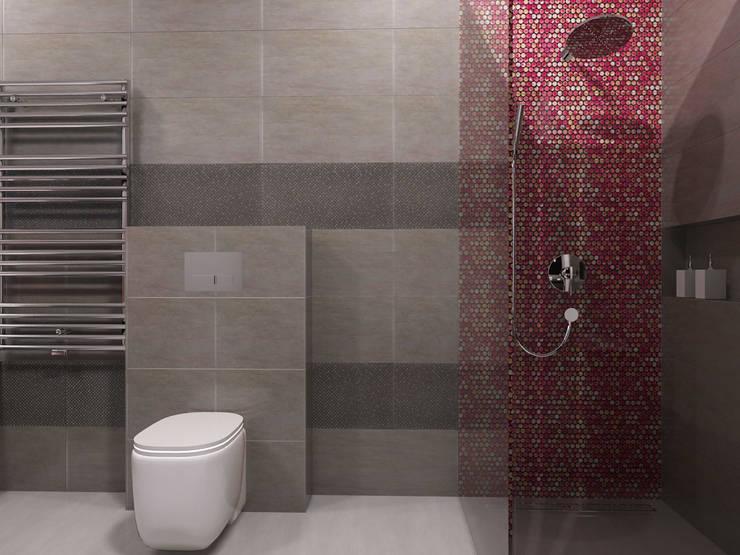 Projekt wnętrz domu jednorodzinnego: styl , w kategorii Łazienka zaprojektowany przez Projektowanie Wnętrz Krzysztof Ziółkowski