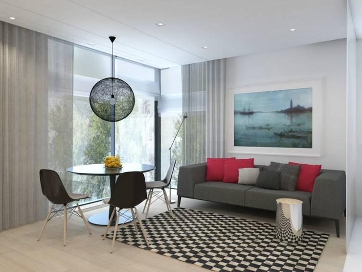 Projekt wnętrz mieszkania II: styl , w kategorii Salon zaprojektowany przez Projektowanie Wnętrz Krzysztof Ziółkowski,