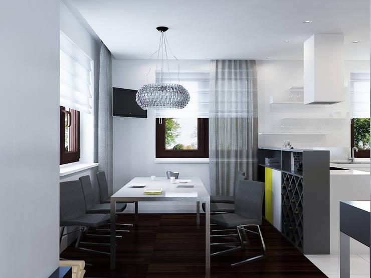 Projekt wnętrz domu jednorodzinnego: styl , w kategorii Jadalnia zaprojektowany przez Projektowanie Wnętrz Krzysztof Ziółkowski