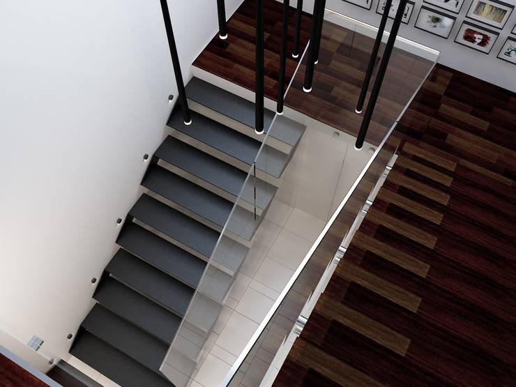 Projekt wnętrz domu jednorodzinnego: styl , w kategorii Korytarz, przedpokój zaprojektowany przez Projektowanie Wnętrz Krzysztof Ziółkowski