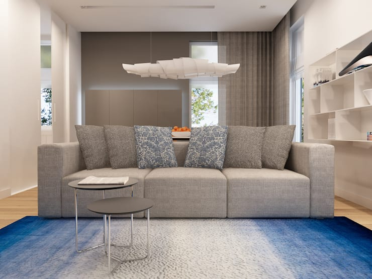 Projekt wnętrz mieszkania I: styl , w kategorii Salon zaprojektowany przez Projektowanie Wnętrz Krzysztof Ziółkowski