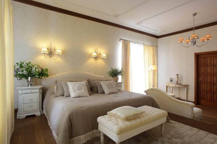 Загородный дом 360м2: Спальни в . Автор – Tatiana Ivanova Design