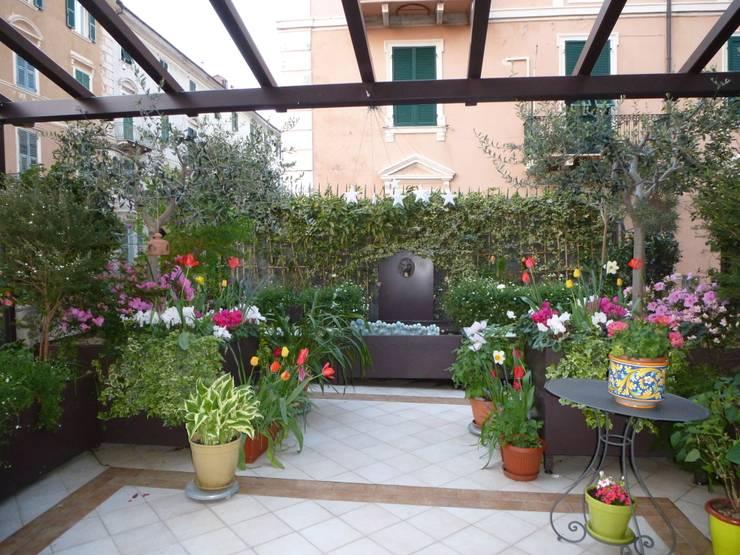 Il terrazzo a Savona:  in stile  di Adriana Pedrotti - Verde Progetto