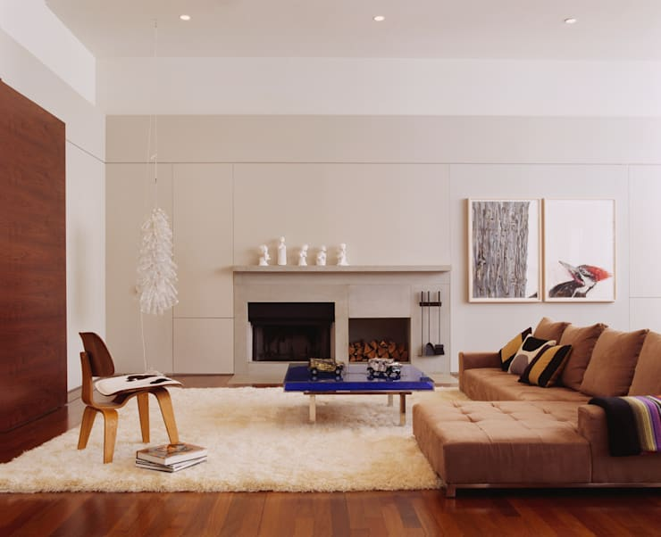 Meltzer Ames Loft:  Living room by Specht Architects