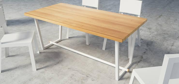TUBE stół skandynawski: styl , w kategorii Jadalnia zaprojektowany przez take me HOME