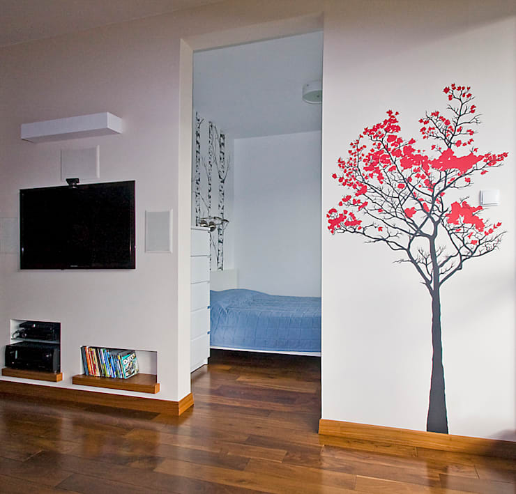 Mieszkanie na Tarchominie: styl , w kategorii Salon zaprojektowany przez Ładne Wnętrze,Nowoczesny