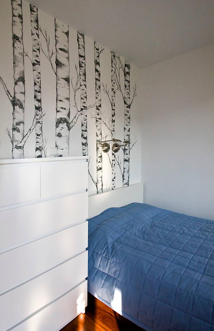 Mieszkanie na Tarchominie: styl , w kategorii Sypialnia zaprojektowany przez Ładne Wnętrze,Nowoczesny
