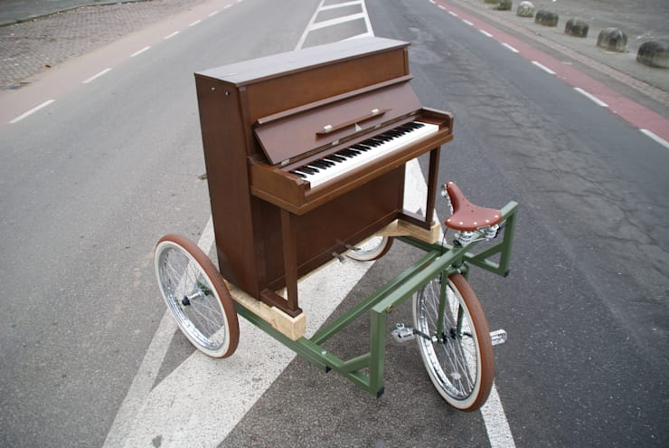The Freewheeler Pianobike:   door BRINKHAUS fietsen, Industrieel
