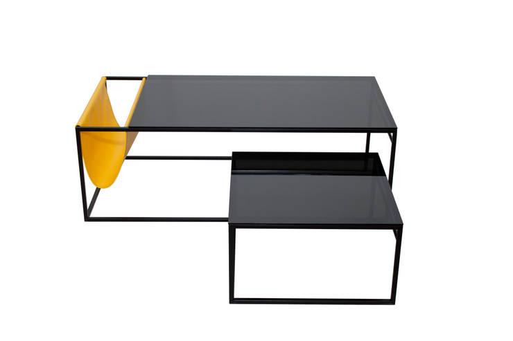 POCKET zestaw stolików kawowych z gazetnikeim: styl , w kategorii  zaprojektowany przez take me HOME,Minimalistyczny