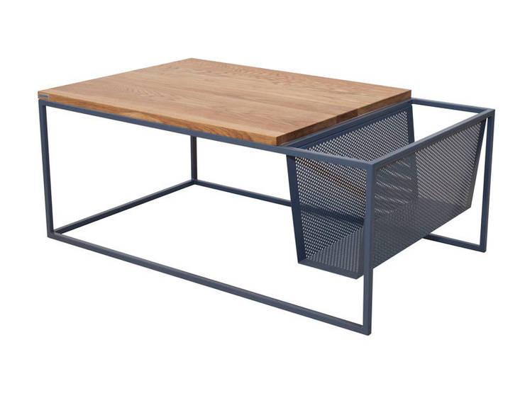 PEFORMA stolik w stylu industrialnym z koszem na gazety: styl , w kategorii Salon zaprojektowany przez take me HOME
