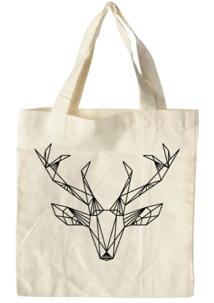 bag deer white:  Kunst  door Sophie Wolterink