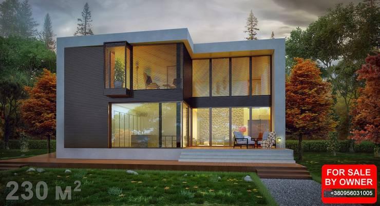 Casas de estilo escandinavo por ALEXANDER ZHIDKOV ARCHITECT