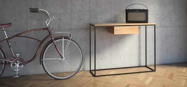 SKINNY OAK+ minimalistyczna konsola w stylu skandynawskim: styl , w kategorii  zaprojektowany przez take me HOME,Skandynawski