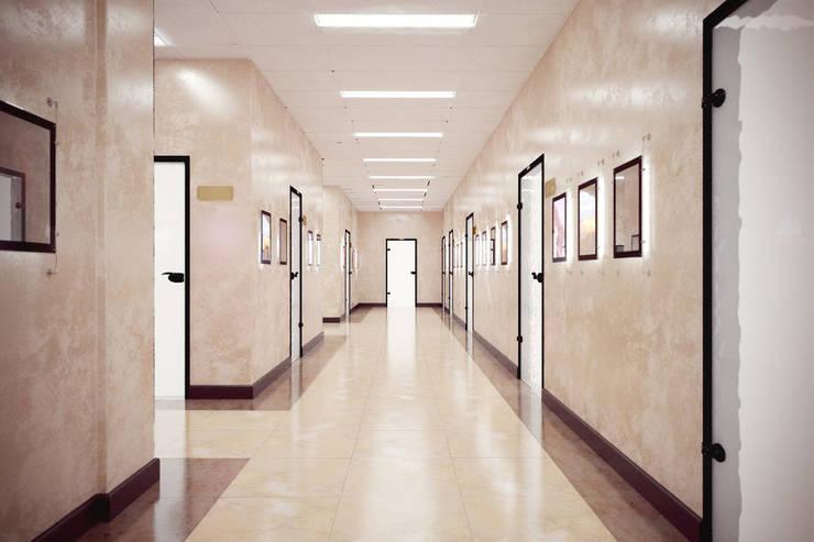 Edificios de oficinas de estilo  de Дизайн-студия 'Эскиз', Minimalista
