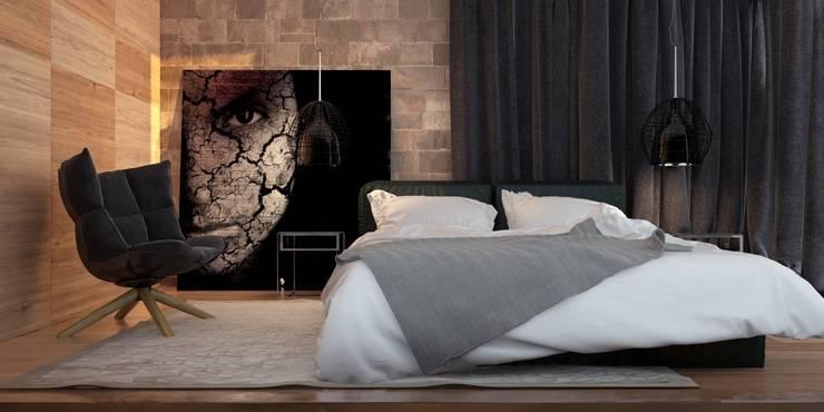 Двухкомнатная квартира для молодой девушки: Спальни в . Автор – Smirnova Luba,