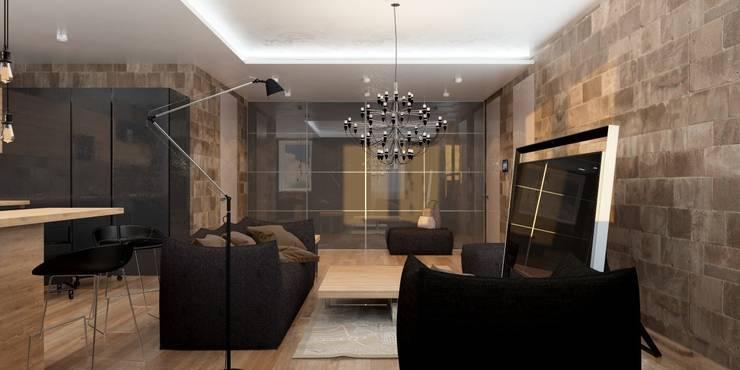 Двухкомнатная квартира для молодой девушки: Гостиная в . Автор – Smirnova Luba,