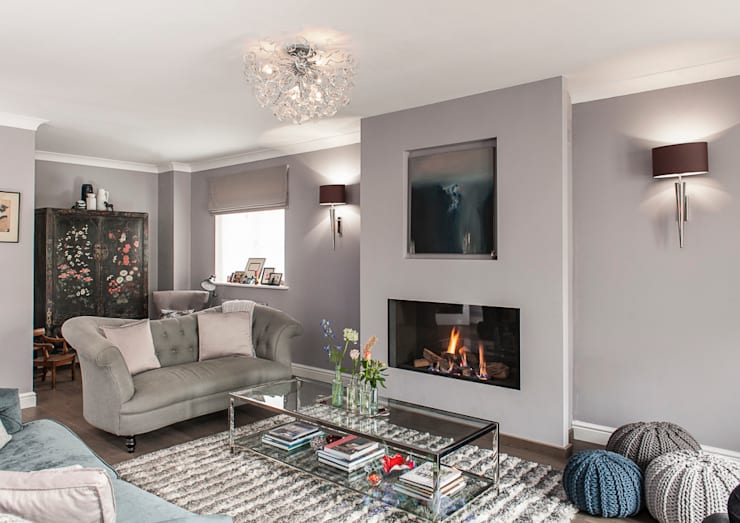 Family Home in Tunbridge Wells:  Living room by Smartstyle Interiors